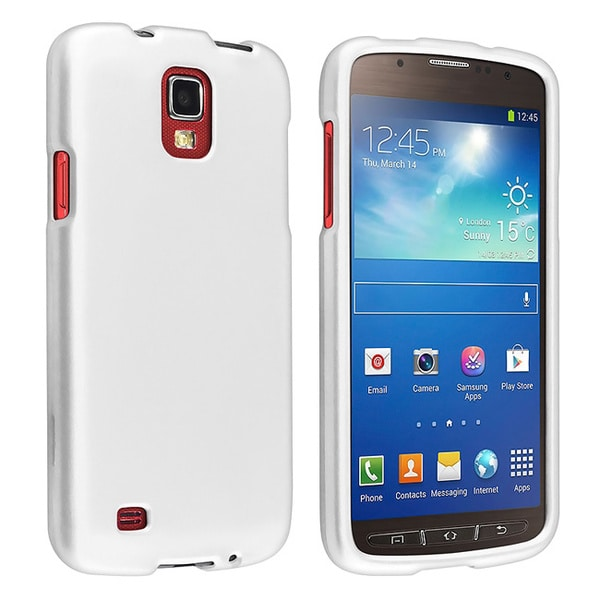 INSTEN White Rubber Coated Phone Case Cover for Samsung Galaxy S4 Active i9295