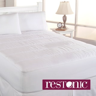 Restonic Clean & Fresh 500 Thread Count Cotton Mattress Pad