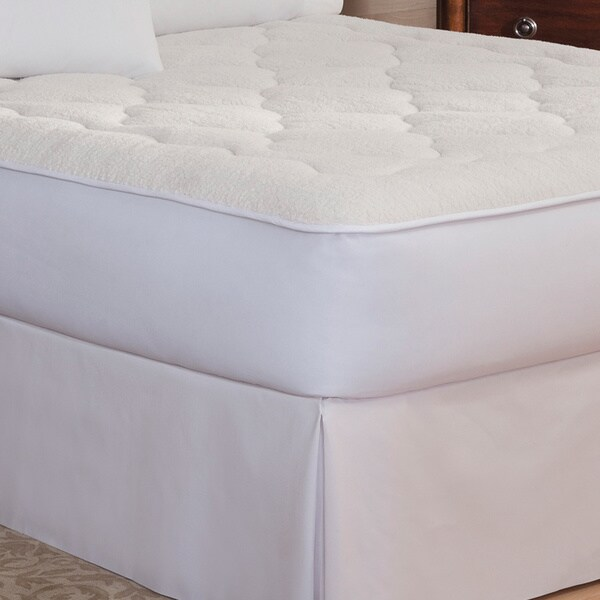 Restonic Sherpa Reversible All Season Mattress Pad
