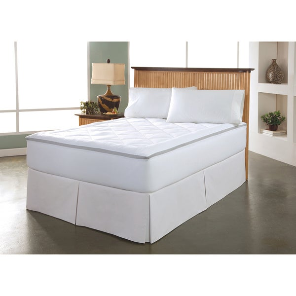 Restonic Stain Release and Repel Breathable Spacer Gusset Mattress Pad