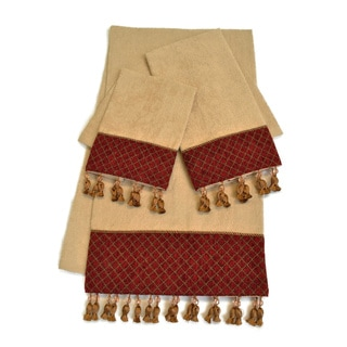 Sherry Kline 'Antoinette' Wheat Fringed 3-piece Towel Set