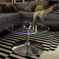 Inspire Q Caley Modern Round LED Cocktail Table