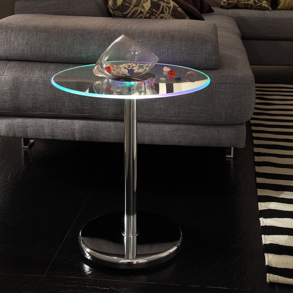 INSPIRE Q Lorin End Table Modern LED Accent Table