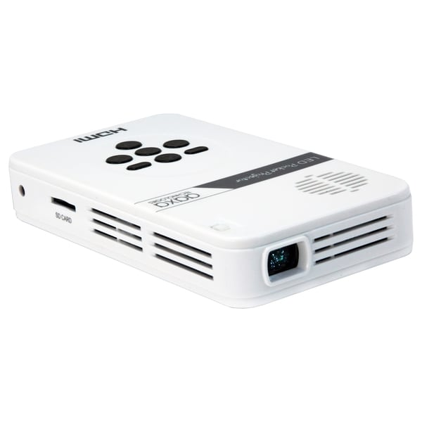 "AAXA LED Pico Pocket Projector, 80 Minute Battery, Up to 60"" Image"