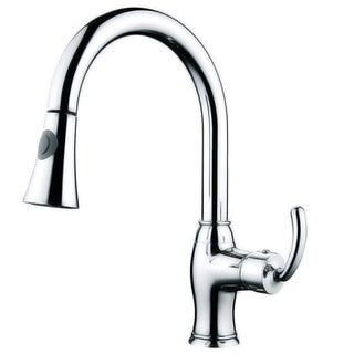 Contemporary Chrome Single Handle Pull Down Kitchen Faucet