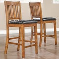 Devlin Mission Style Oak 24-inch Barstools (Set of 2)