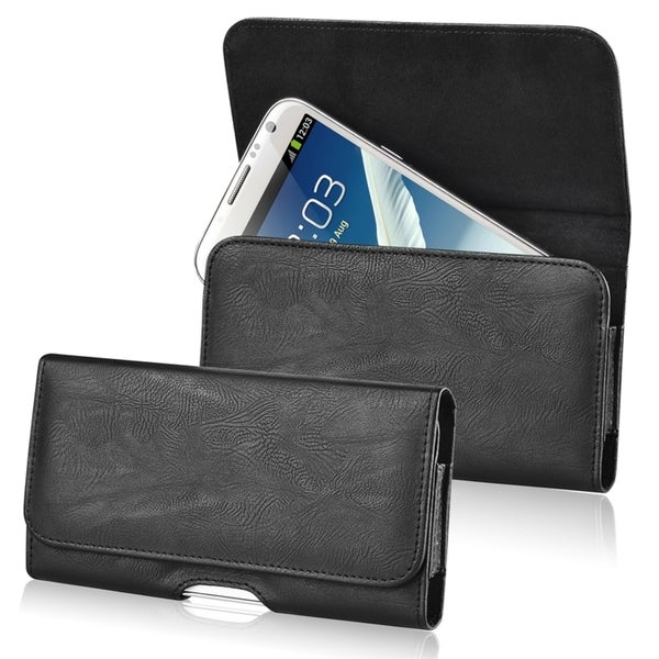 INSTEN Black Universal Horizontal Leather Case for Apple iPhone 4/ 4S/5/ 5S/ 6