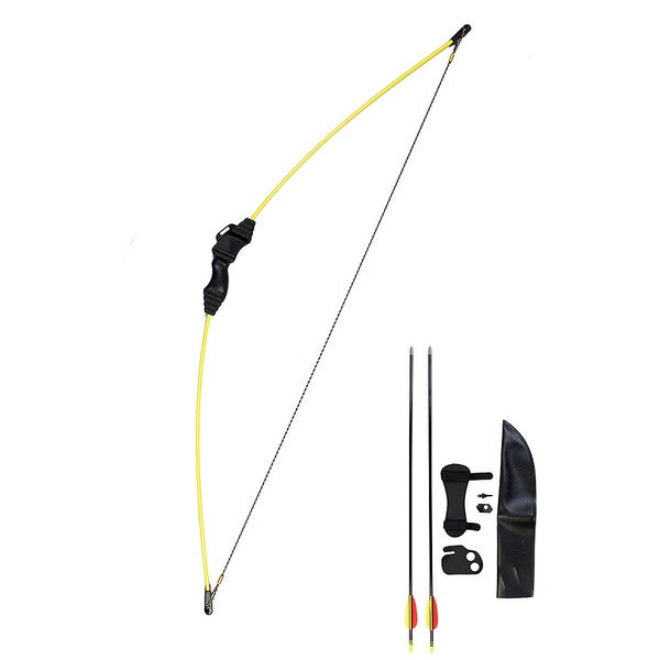24-inch Yellow Youth Recurve Bow Set