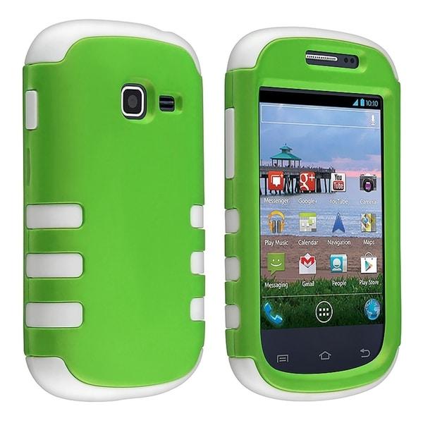 BasAcc White/ Green Hybrid Case for Samsung© Galaxy Centura S738C