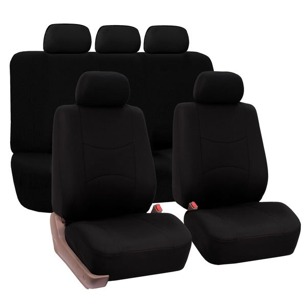 FH Group Black Full Set Airbag Compatible Car Seat Covers 11567272