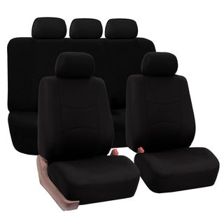 FH Group Black Full Set Airbag Compatible Car Seat Covers