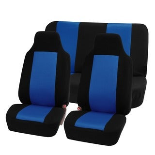 FH Group Blue Full Set Fabric Auto Seat Covers