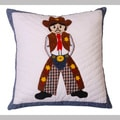 Cowboy Western Hand-textured 16-inch Decorative Pillow