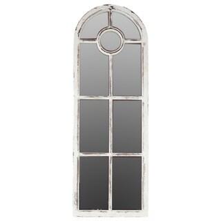 Wooden White Wall Mirror