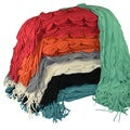Cashmere Showroom Nu Wave Ripple Fringe Throw