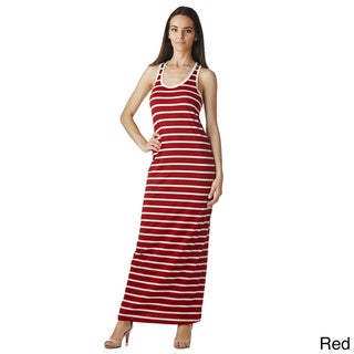 Stanzino Women's Sleeveless Racerback Tank Maxi Dress