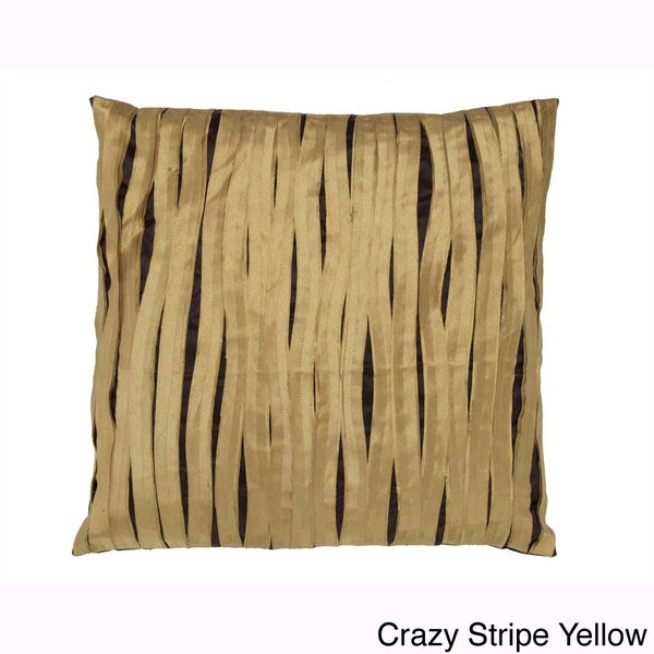 Crazy Stripe Hand-textured 20-inch Decorative Down Pillow