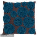 Felt Circle Hand-textured 20-inch Decorative Pillow