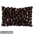 Silk Roses Hand-textured 20-inch Down Decorative Pillow