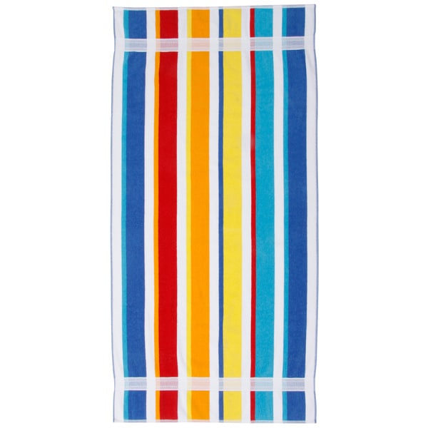 Joey Velour Multicolor Striped Beach Towel (Set of 2) 11567712