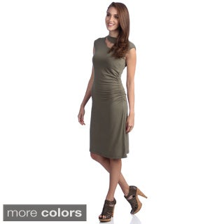 Amelia Ruched Knit Sheath Dress