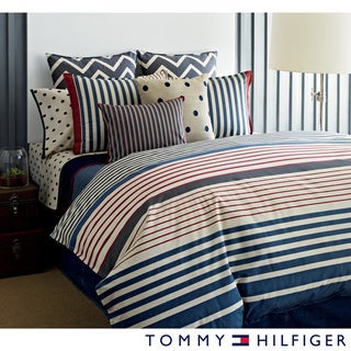 Tommy Hilfiger Reading Room Stripe 3-piece Cotton Duvet Cover Set