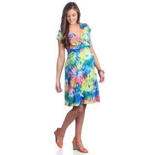 Ashley Nicole Maternity Women's Tropcial Sorbet Adjustable Wrap Dress (S)