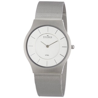 Skagen Women's 233LSS Silver Stainless-Steel Quartz Watch with White Dial
