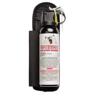 Sabre Frontiersman Bear Spray and Attack Deterrent - 7.9 oz with Belt Holster