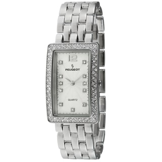Peugeot Women's Rectangular Crystal-accented Watch