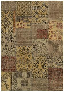 Power-loomed Handicraft Imports Gibraltar Floral-pattern Multicolored 100-percent Heat-set Area Rug (6'7 x 9'6)