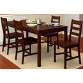 CorLiving Cappuccino Dining Table (Set of 5)