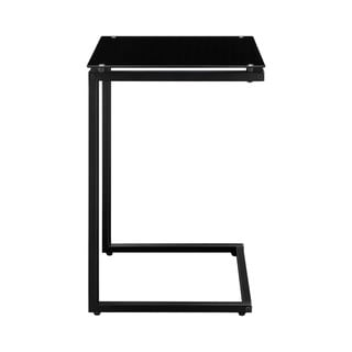 Altra Modern Black Glass Top C Table