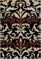 Power-Loomed Handicraft Imports Gibraltar Black Heat-Set Polypropylene Area Rug (3'3 x 5'3)