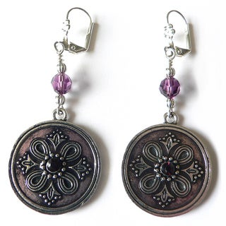 "Palmtree Gems ""Velma"" Medallion Dangle earrings"