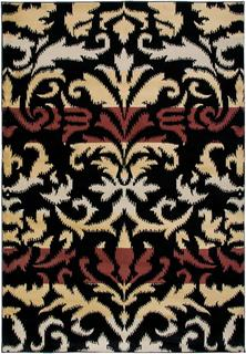 Power-loomed Handicraft Imports Gibraltar Black Heat-Set Area Rug (9'2 x 12'6)