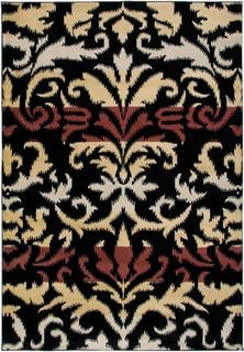 Power-Loomed Handicraft Imports Gibraltar Black Heat-Set Polypropylene Area Rug (9'2 x 12'6)