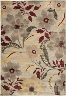 Power-Loomed Handicraft Imports Gibraltar Ivory Heat-Set Polypropylene Area Rug (9'2 x 12'6)