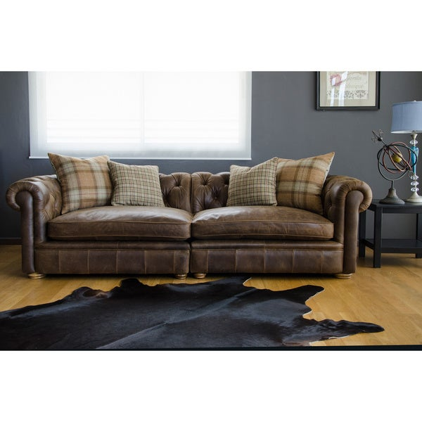Franklin Leather Grand Sofa Overstock Shopping Great Deals On Sofas Loveseats