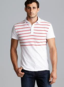 CK Jeans Boating Stripe Short Sleeve Polo