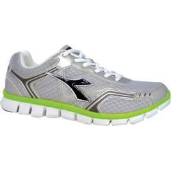 Men's Diadora Dinamik II Silver DD/Black/Acid Green