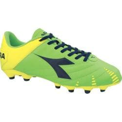 Men's Diadora Evoluzione R MG 14 Lime/Yellow/Navy
