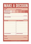 Make a Decision: Pad (Notebook / blank book)