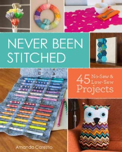 Never Been Stitched: 45 No-Sew & Low-Sew Projects (Paperback)