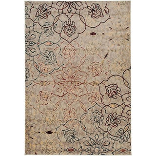 Small Gibraltar Floral Ivory Area Rug (3'3 x 5'3)