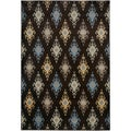 "Gibraltar Brown Abstract Area Rug (3'3""x5'3"")"