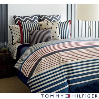 Tommy Hilfiger Reading Room Striped 3-piece Reversible Comforter Set