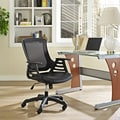 Veer Office Chair with Mesh Back and Vinyl Seat in Black with Ladder Arms