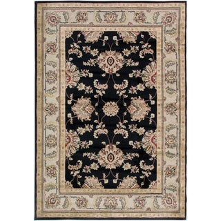Gibraltar Black Traditional Area Rug (9'2 x 12'6)