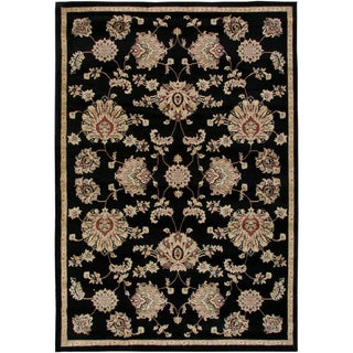 Gibraltar Heat-set Polypropylene Area Rug in Black (3'3 x 5'3)